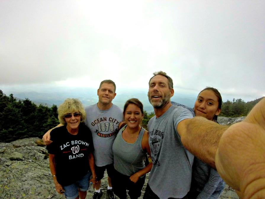The Golding's Conquer Mt. Mansfield - The tallest peak in Vermont!