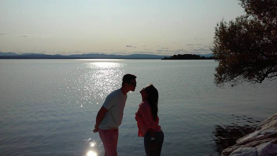 A Smooch on Lake Champlain
